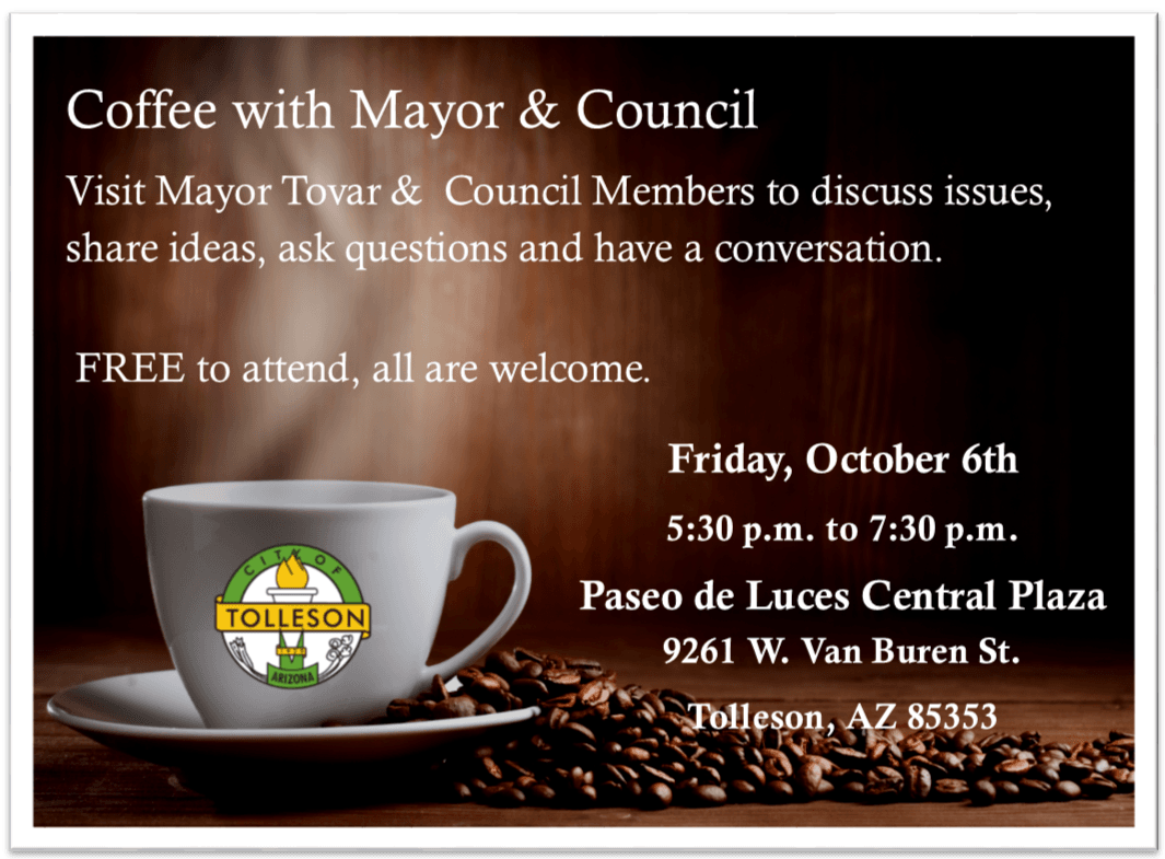 Coffe with mayor and Council Card Oct 2017