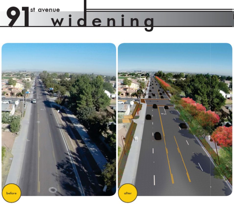 91st Ave Widening Image
