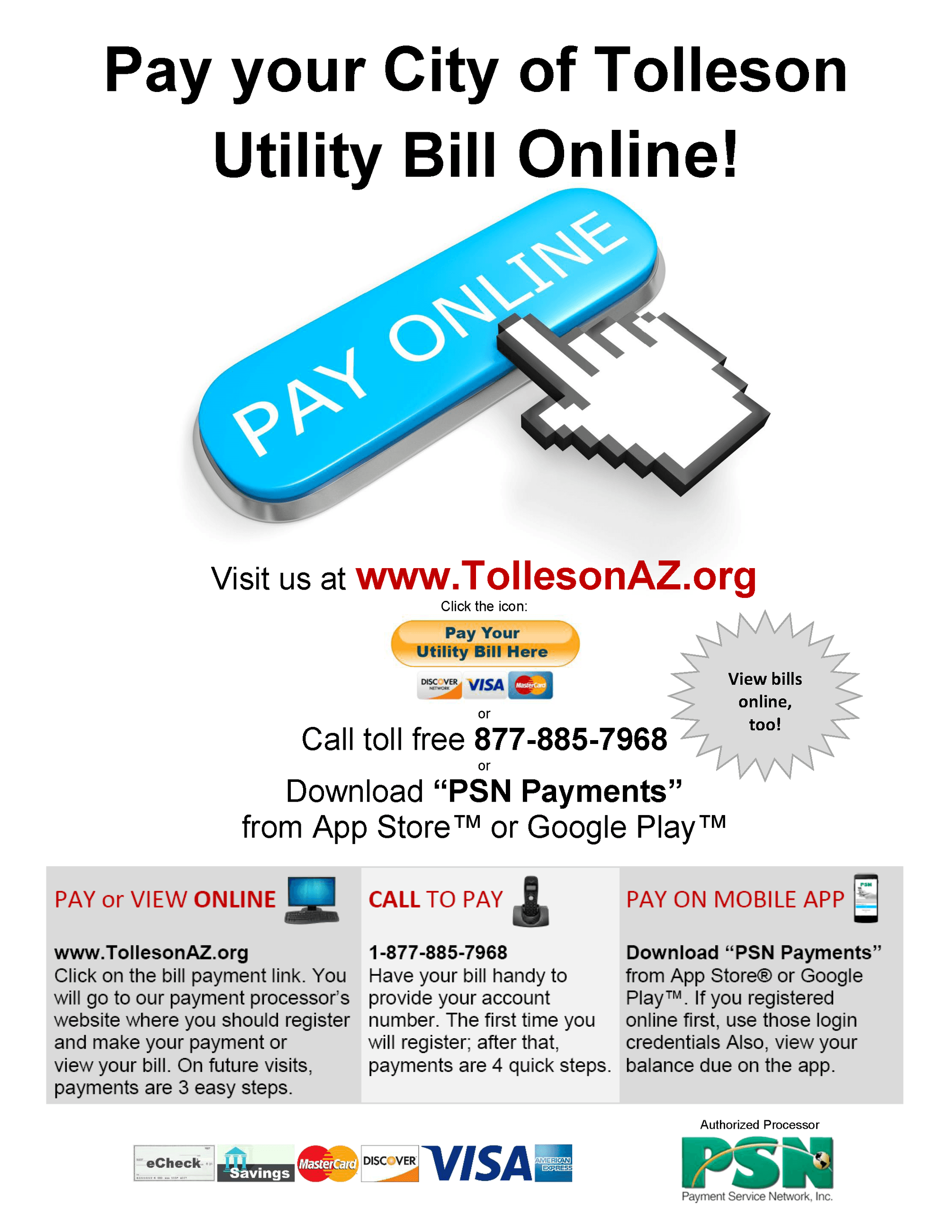 Tolleson Online Pay - Page 1