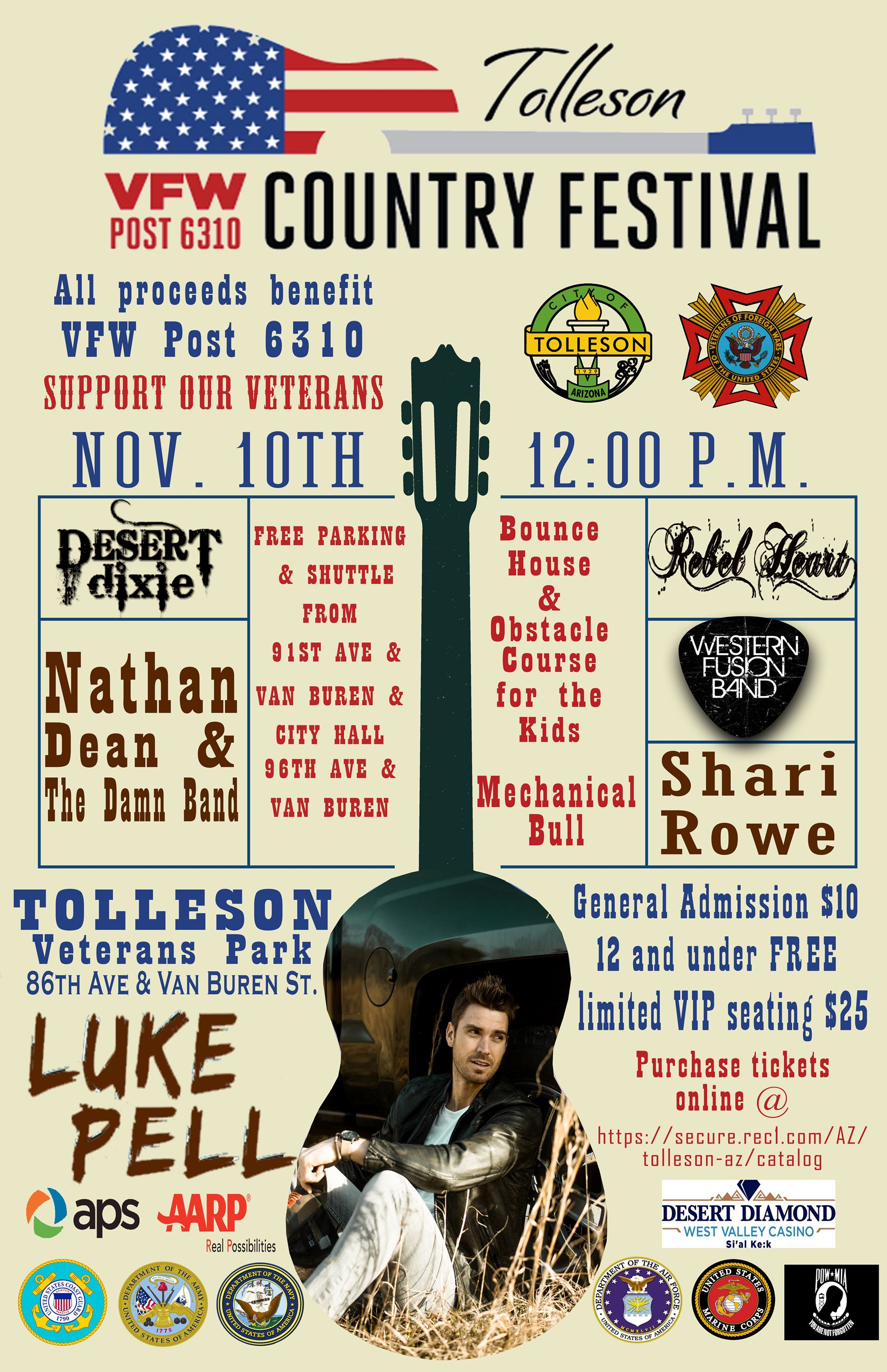 Tolleson VFW Country Festival Flyer MAIN 2018