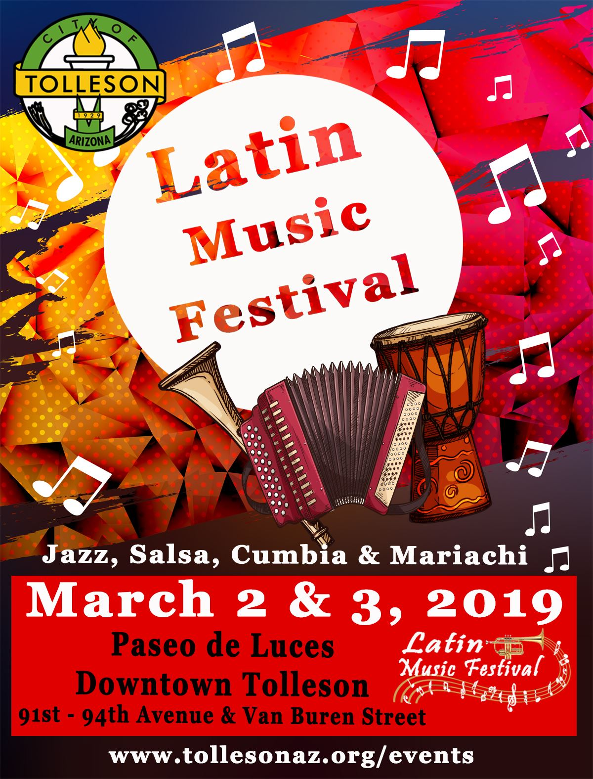 Latin Music Festival - Save the Date March 2019