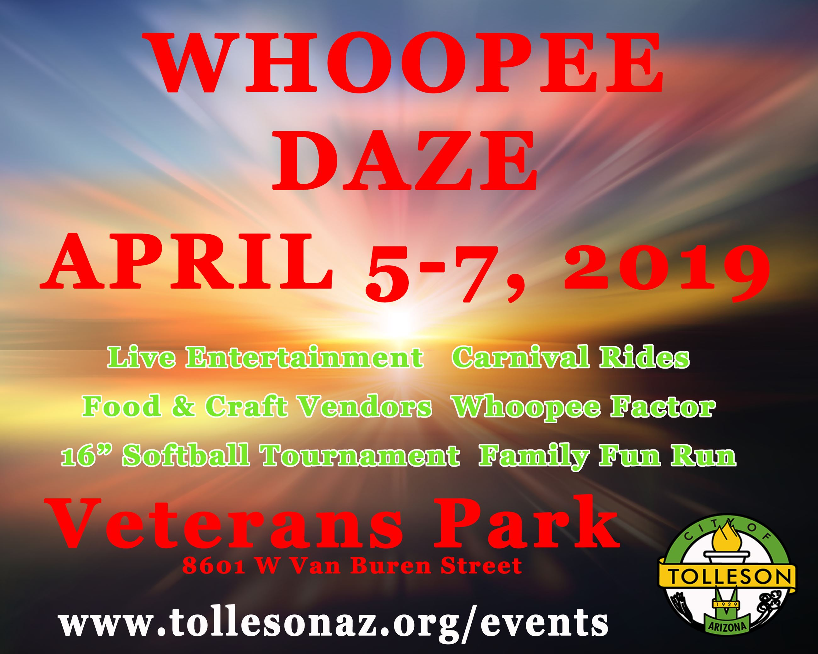 Whoopee Daze Save the Date 2019