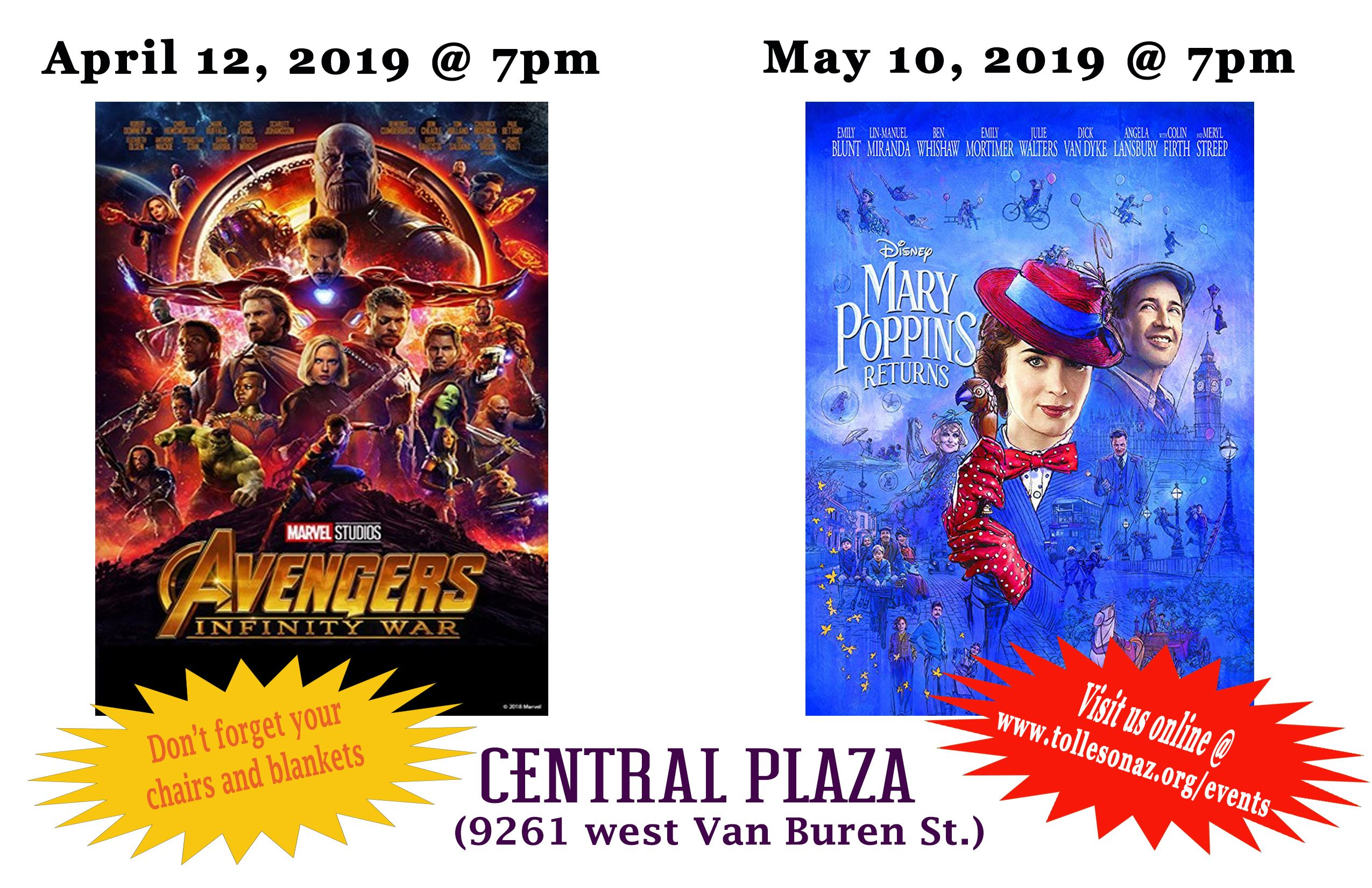 April and May 2019 - Movies at Central Plaza