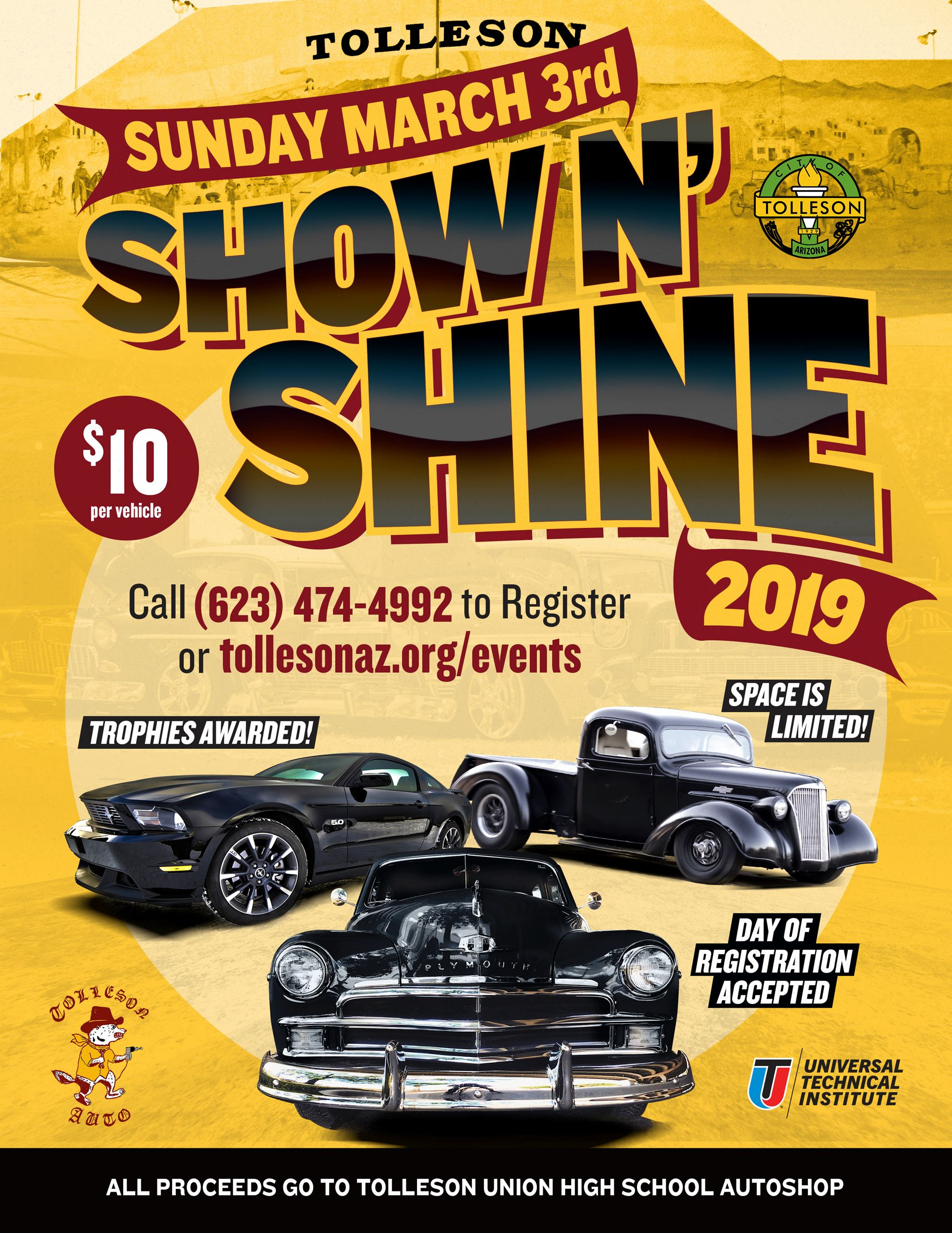 ShowNShine Car Show Poster 2019