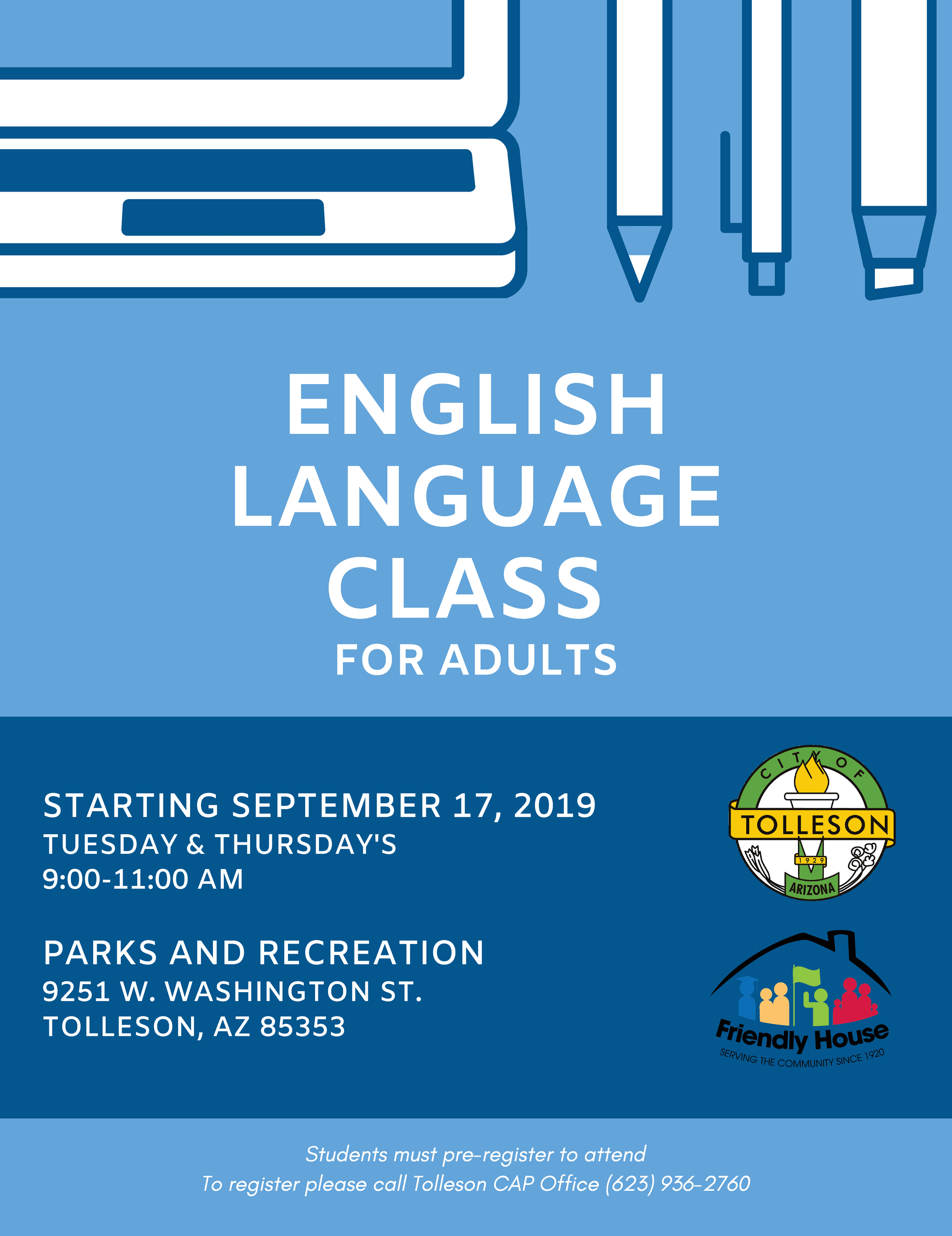 english language class for adults