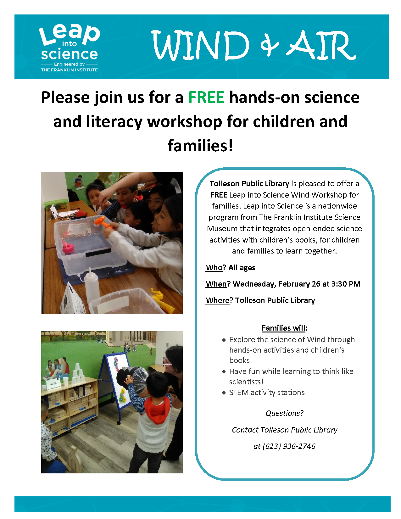 Leap Into Science Wind February flyer