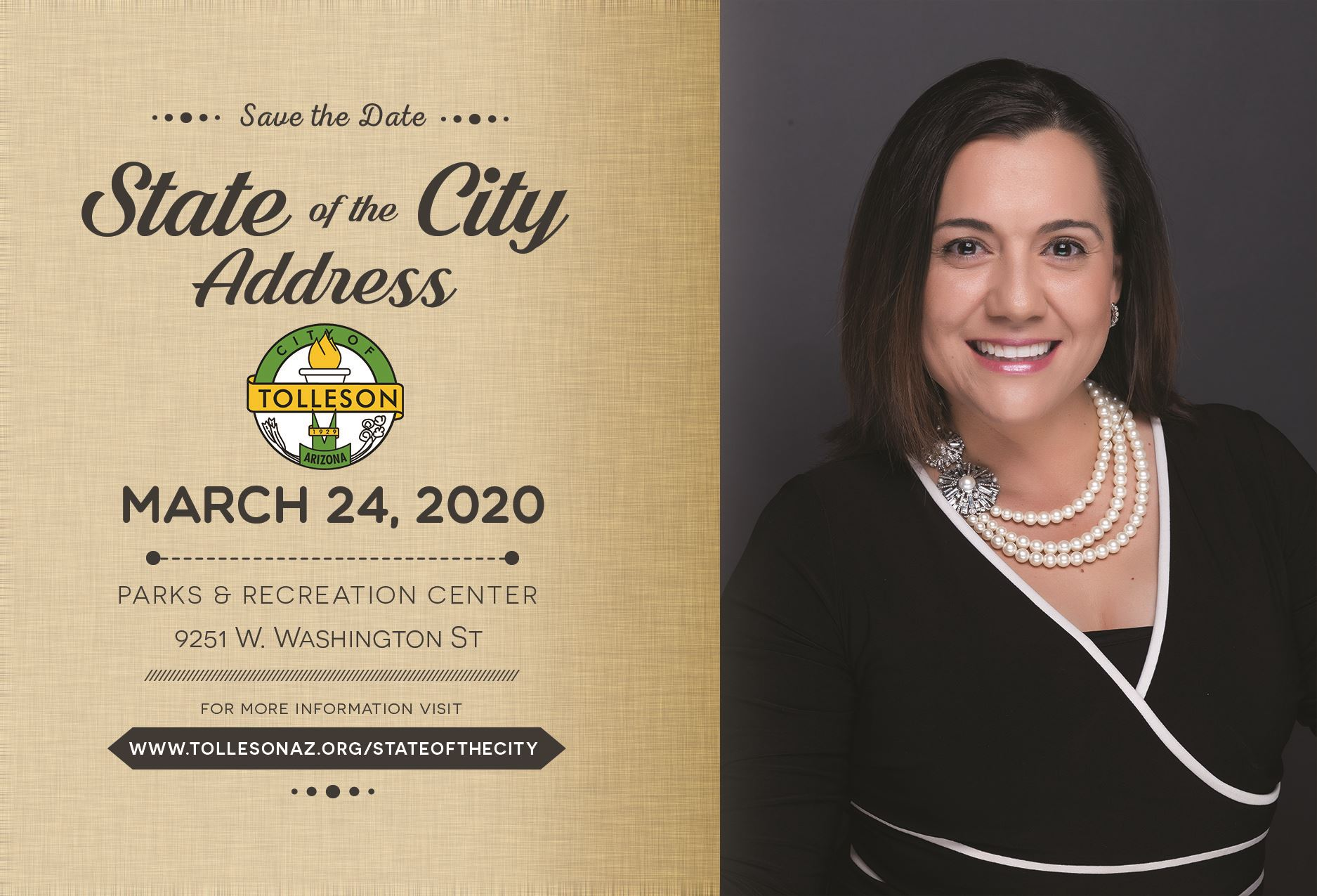 Save the Date - State of the City 2020