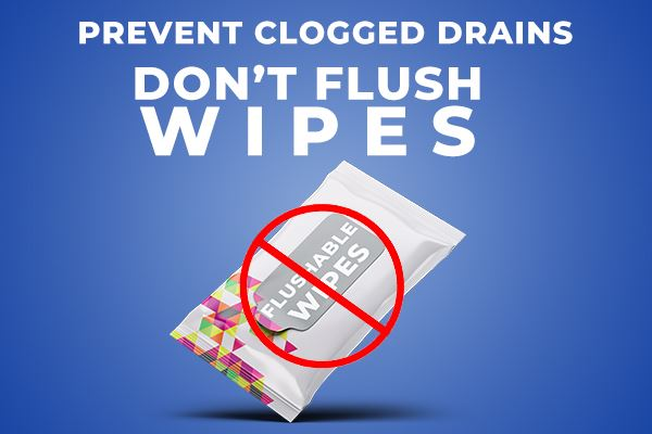 Dont flush wipes