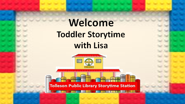 toddler story time with Lisa with LEGO border