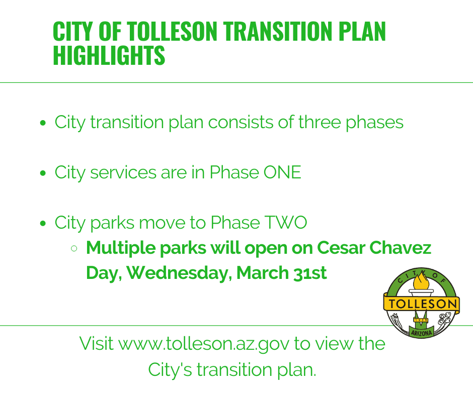 City of Tolleson Transition Plan Highlights