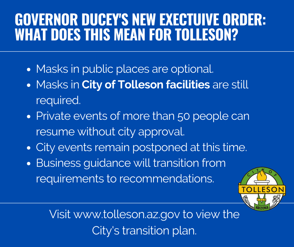Governor Ducey New Executive Order What does this mean for Tolleson