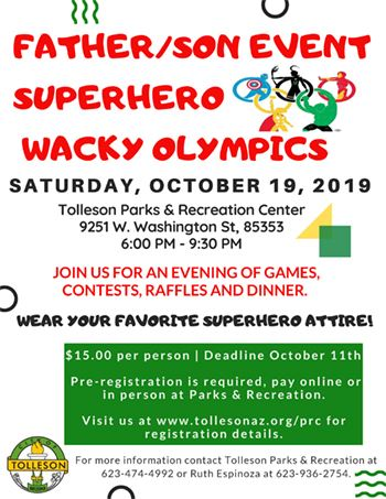 Father and Son Event Superhero Wacky Olympics 2019 Opens in new window