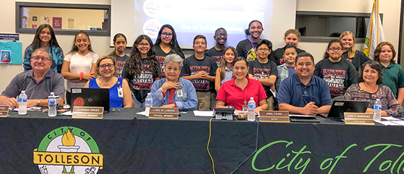 Council Meeting Sept 2019 with Arizona Desert Elementary Student Council