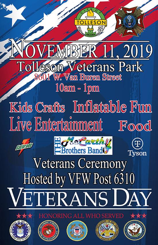 City of Tolleson Veterans Day Celebration - November 2019