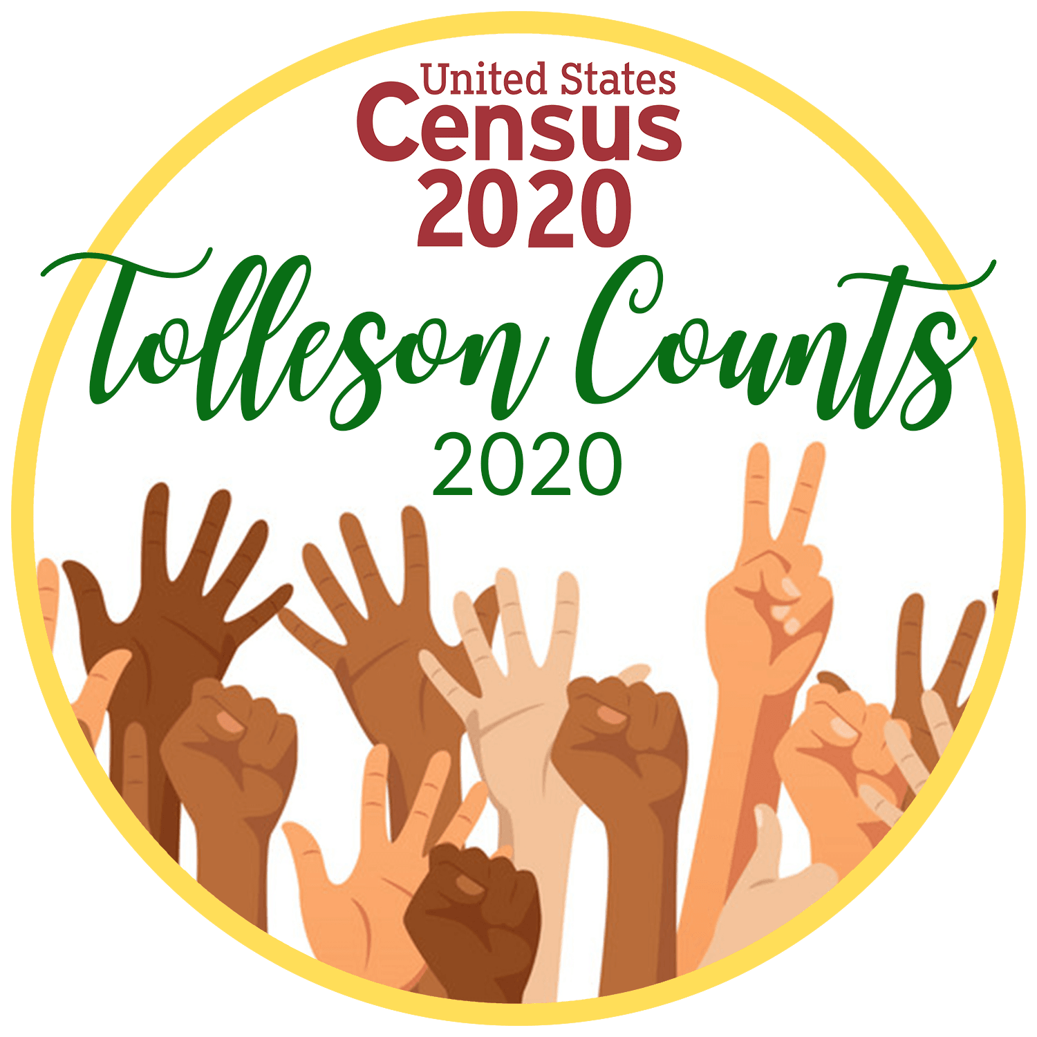 Tolleson Counts 2020 logo