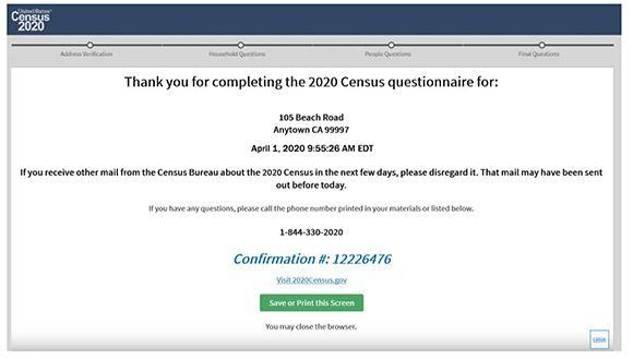 Census Confirmation