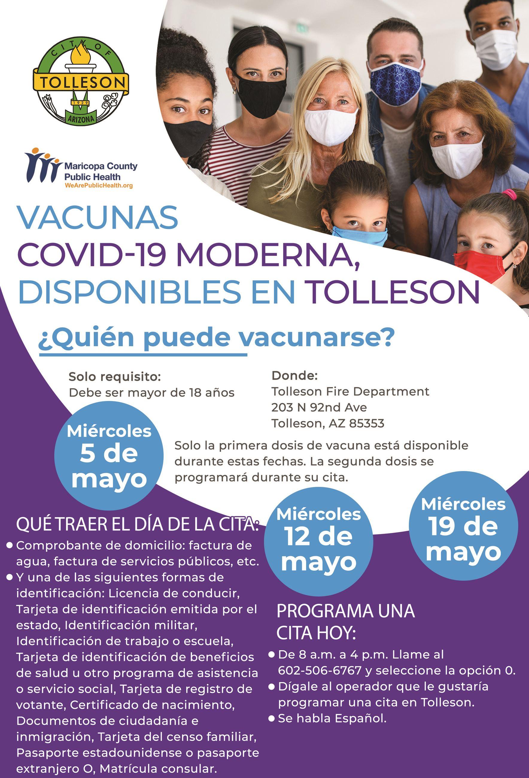 vacunas COVID-19 de Moderna en Mayo 2021