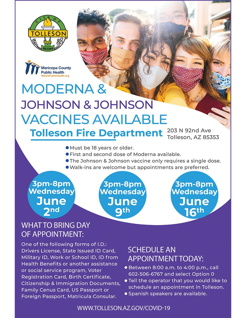 Moderna and Johnson & Johnson Vaccines in Tolleson