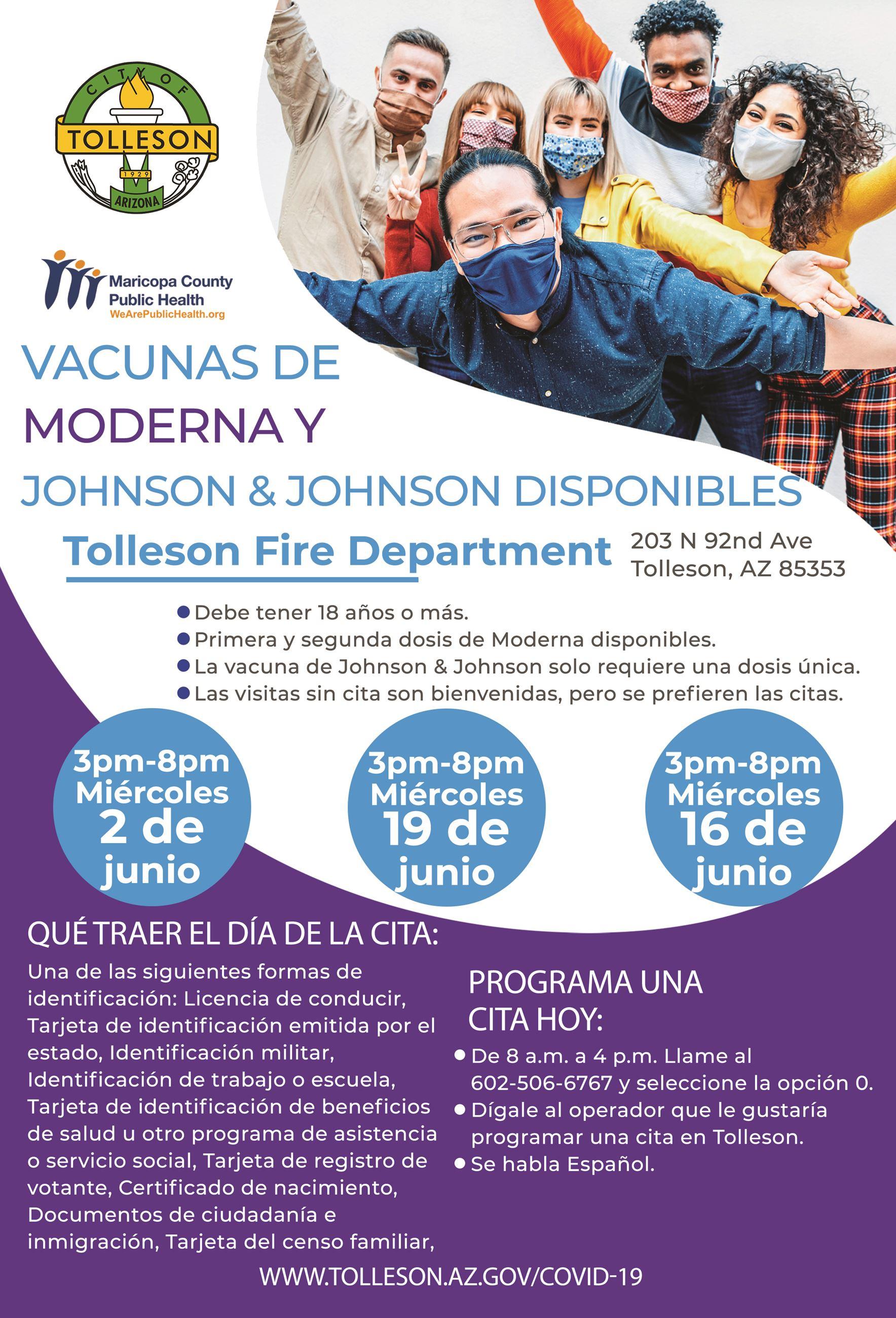 vacunas de Moderna y Johnson & Johnson en Junio 2021
