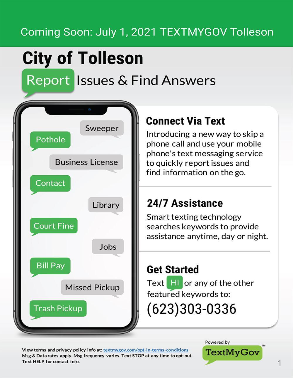Tolleson TextMyGov